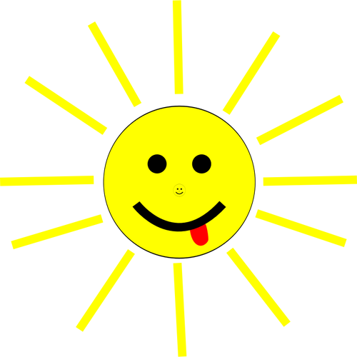 500x500 Smiling Cartoon Sun Vector Clip Art Public Domain Vectors