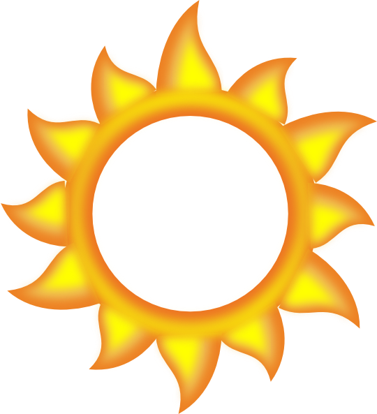 540x593 A Sun Cartoon Clip Art