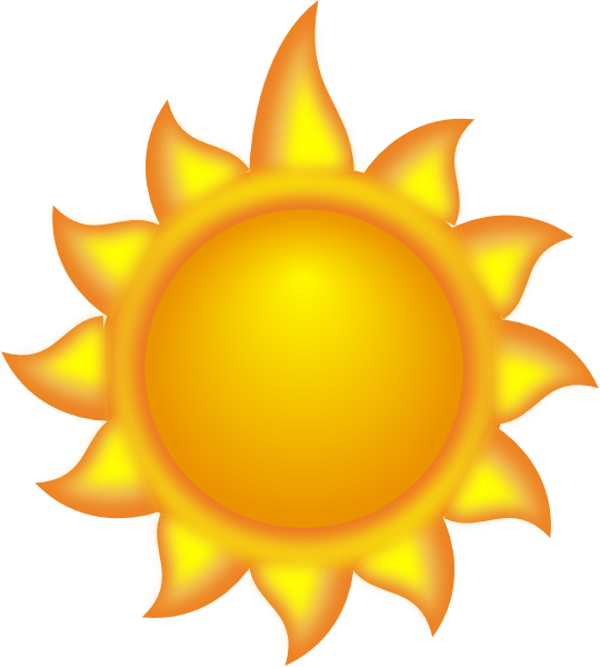 540x600 A Sun Cartoon With A Long Ray 2 Clip Art