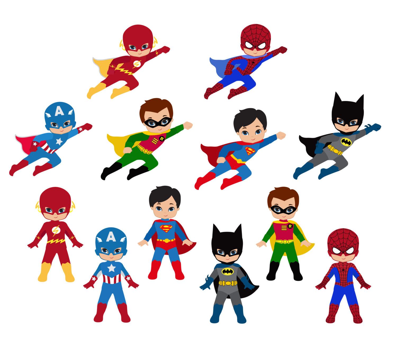 1500x1330 Cartoon Superheroes Clipart