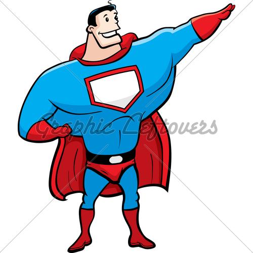 500x500 Cartoon Superheroes Clipart