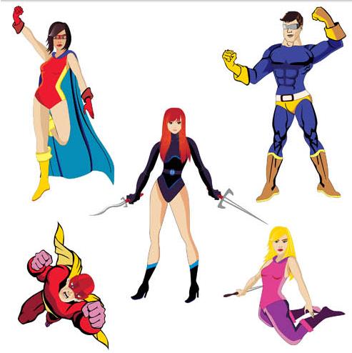 493x494 Cartoon Superheroes Vector Ai Format Free Vector Download