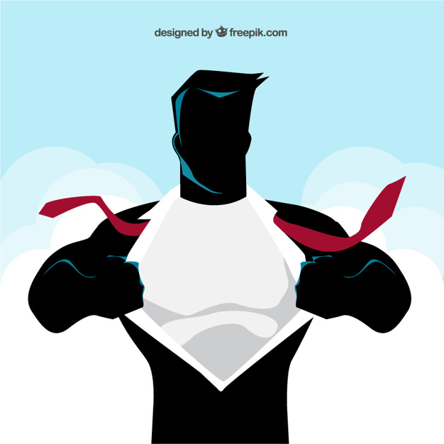 626x626 Comic superhero chest illustration Vector Free Download