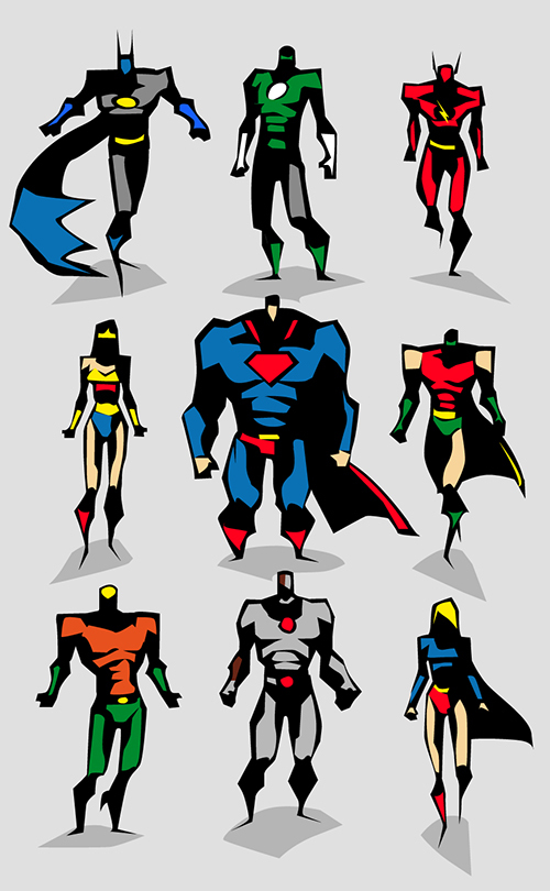 500x810 Marvel dc Motu Vector sketches on Character Design Served