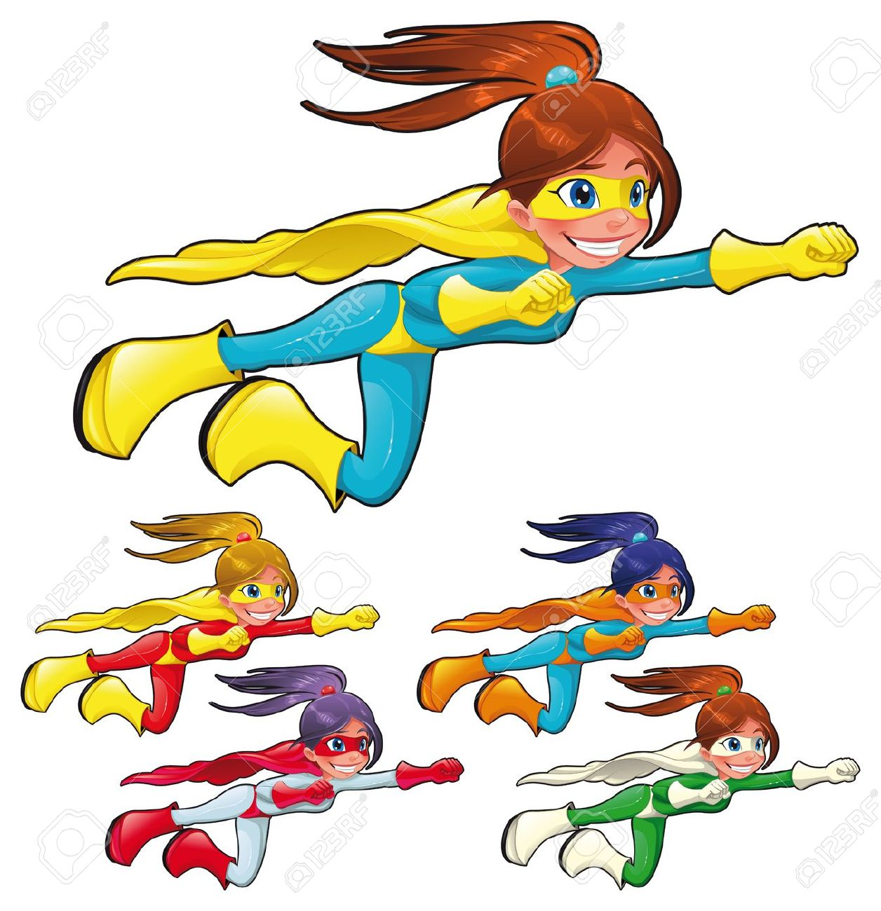 1256x1300 Cartoon Girl Superheroes