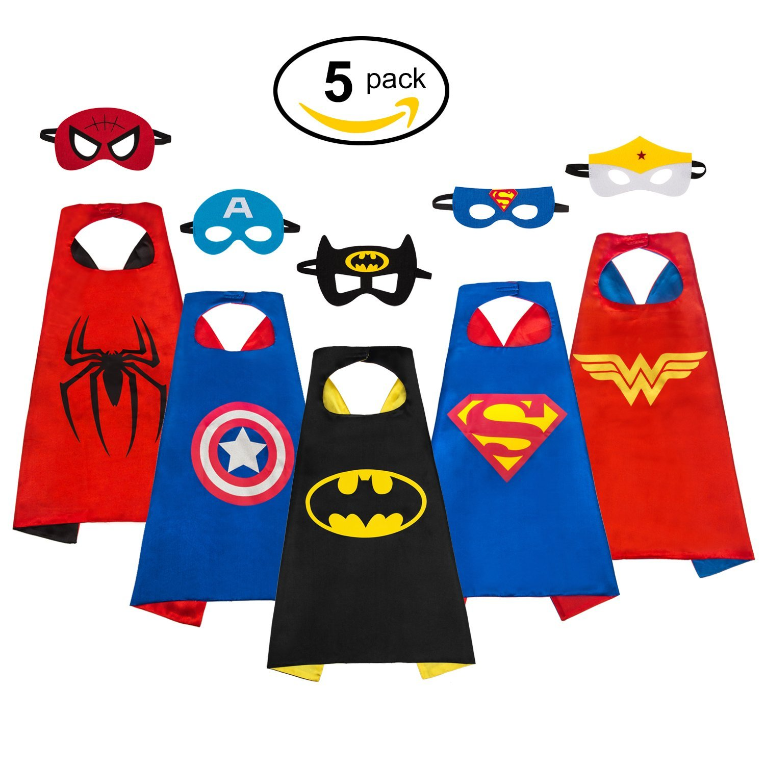1500x1500 MIJOYEE Superheros Capes and Mask Costumes for kids