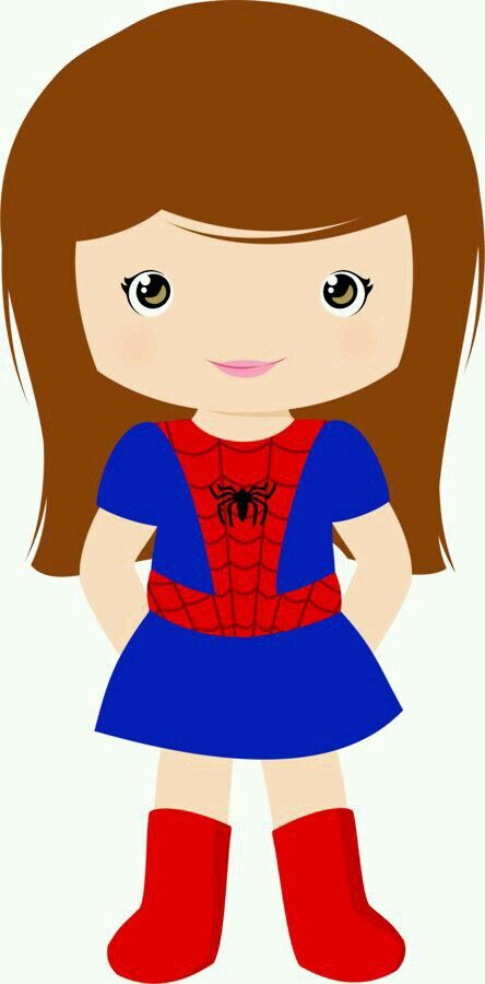 Cartoon Superwoman Clipart