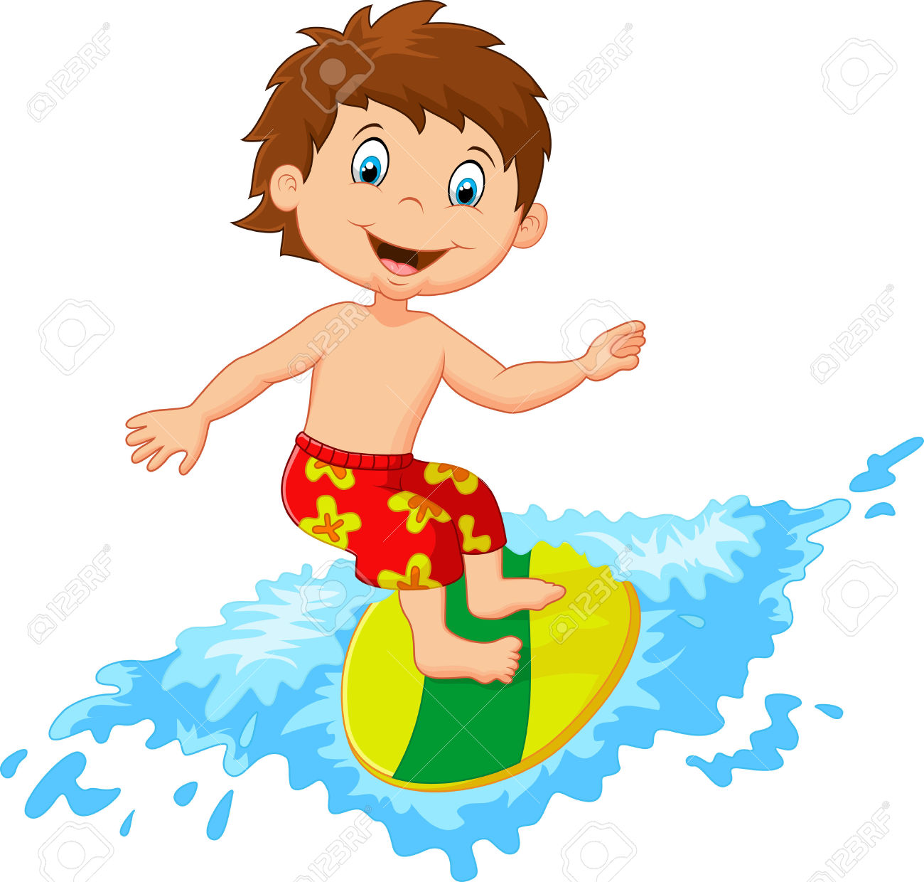 1300x1240 Kids On Surfboard Clipart