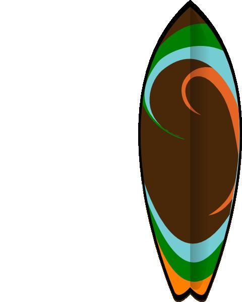480x598 Retro Surfboard Clip Art