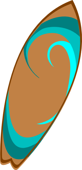 288x596 Surfboard Clipart Cartoon