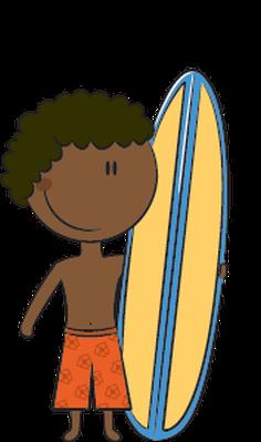 236x399 Surfboard Clipart Kid