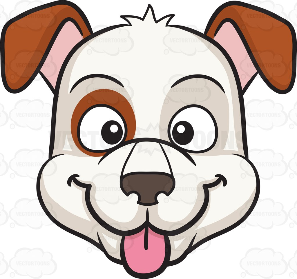 1024x963 A Dog Sticking Out Its Tongue Cartoon Clipart