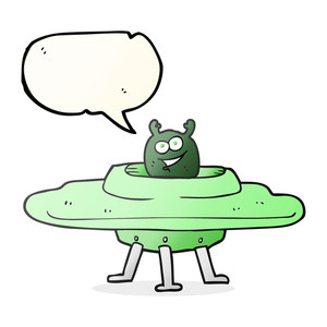 300x300 Freehand Drawn Speech Bubble Cartoon Ufo Royalty Free Stock Image