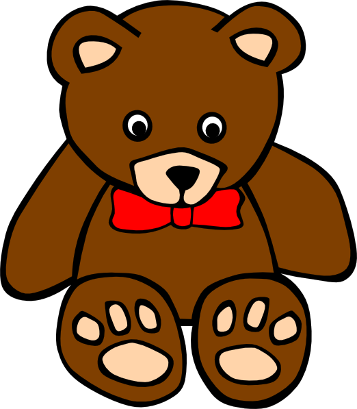 522x597 Free Teddy Bear Clip Art
