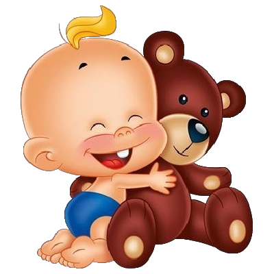 400x400 Images Are On A Transparent Background Cute Baby Holding Teddy
