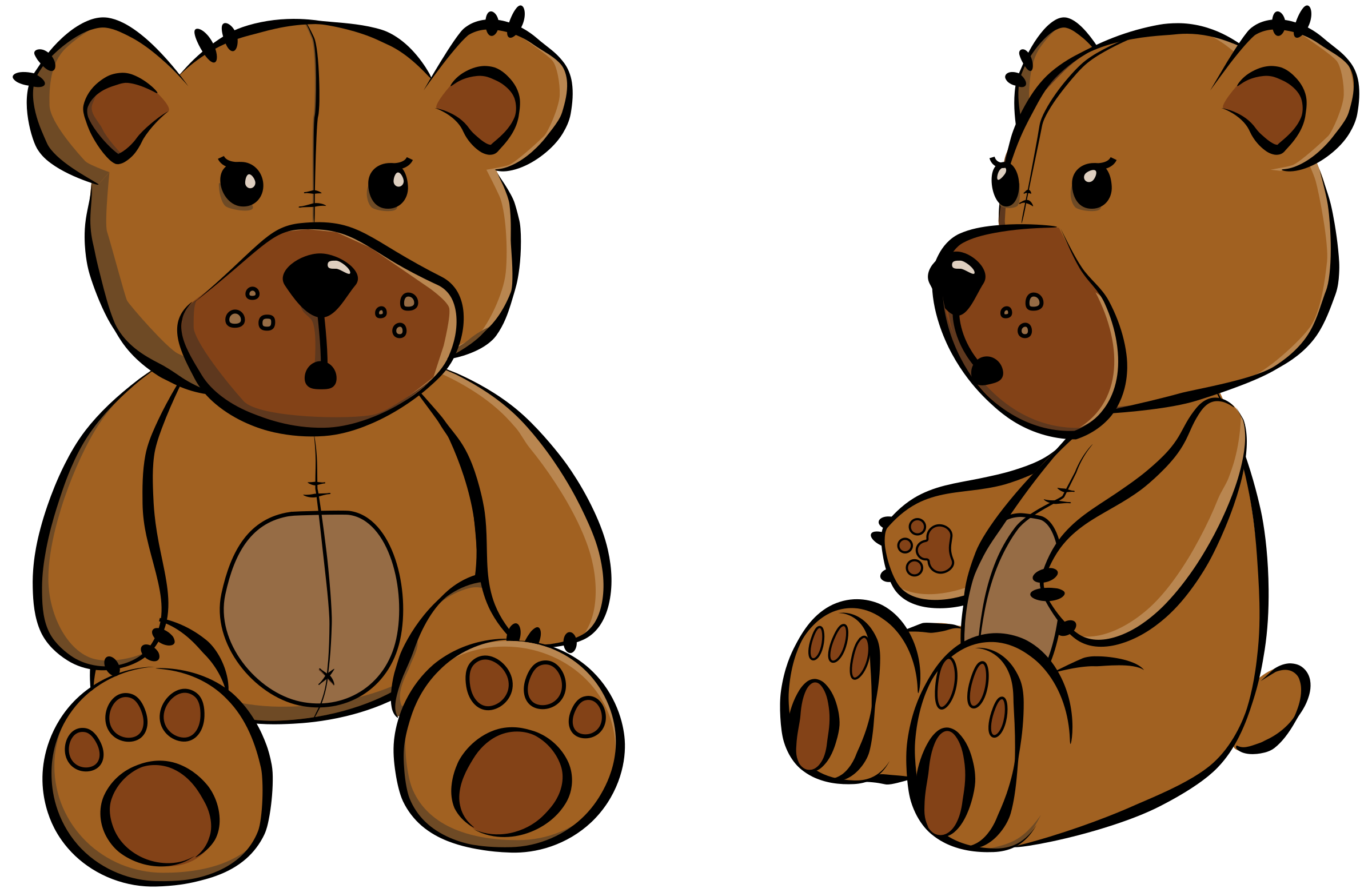 2400x1560 Teddy Bear Clipart Transparent