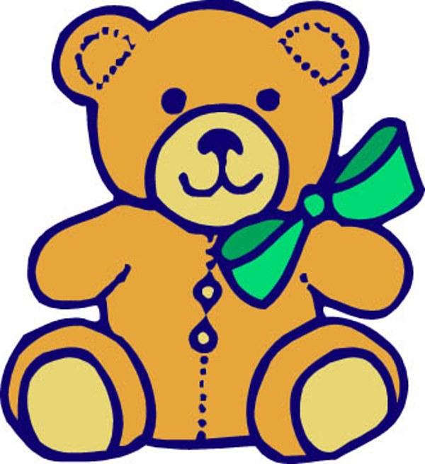 600x655 Bear Cub clipart tedy