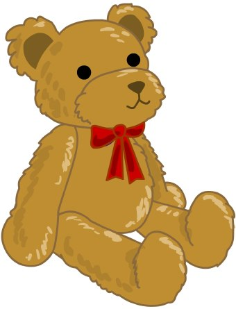 340x445 Brown Bear Clipart