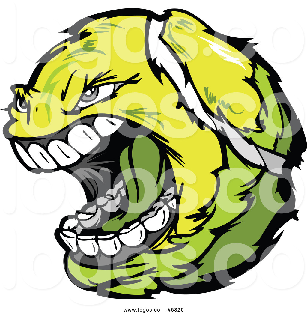 1024x1044 Royalty Free Clip Art Vector Logo Of A Screaming Tennis Ball By