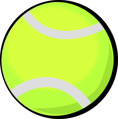 500x504 Shadow Black Tennis Ball Clipart