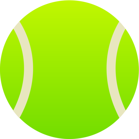 550x550 Simple Green Tennis Ball