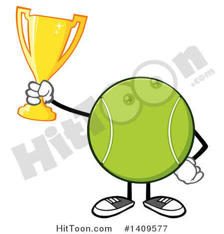 450x470 Tennis Ball Character Clipart