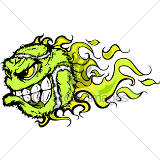 325x325 Tennis Ball Screaming Face Cartoon Vector Image Gl Stock Images