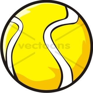 320x320 Yellow Tennis Ball Cartoon