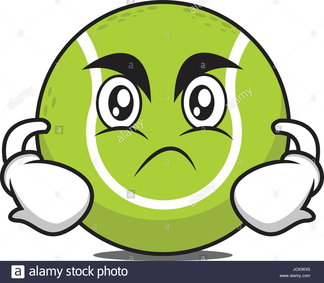 1300x1137 Angry Tennis Ball Cartoon Character Vector Art Stock Vector Art