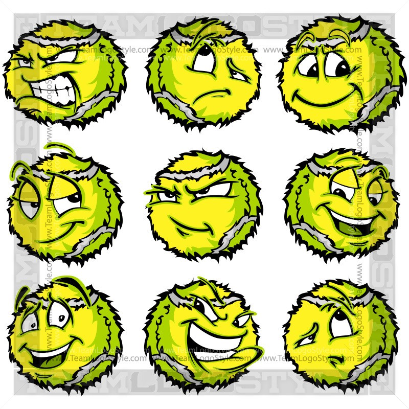 800x800 Cartoon Tennis Ball