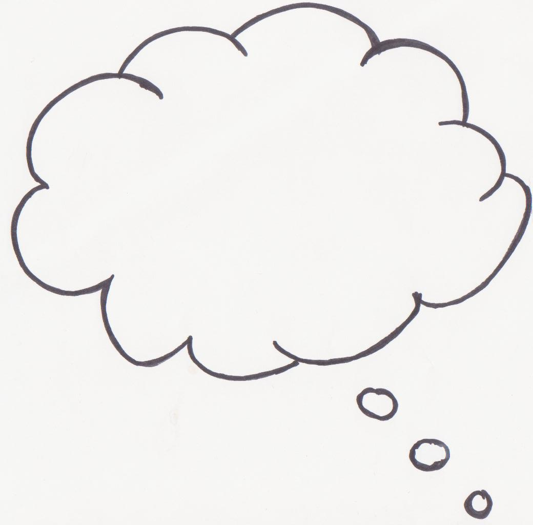 1040x1024 Bubble Thought Template. Thought Bubble Thought And Speech Bubbles