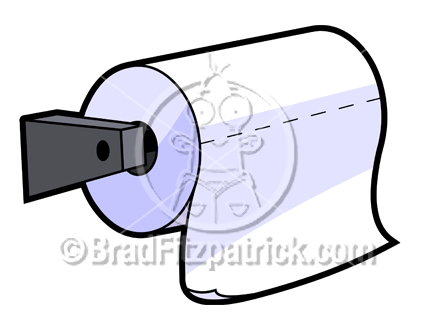 432x324 Cartoon Toilet Paper Clipart Picture Royalty Free Toilet Paper