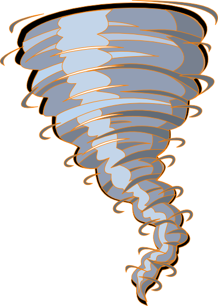 426x599 Orange Tornado Clip Art