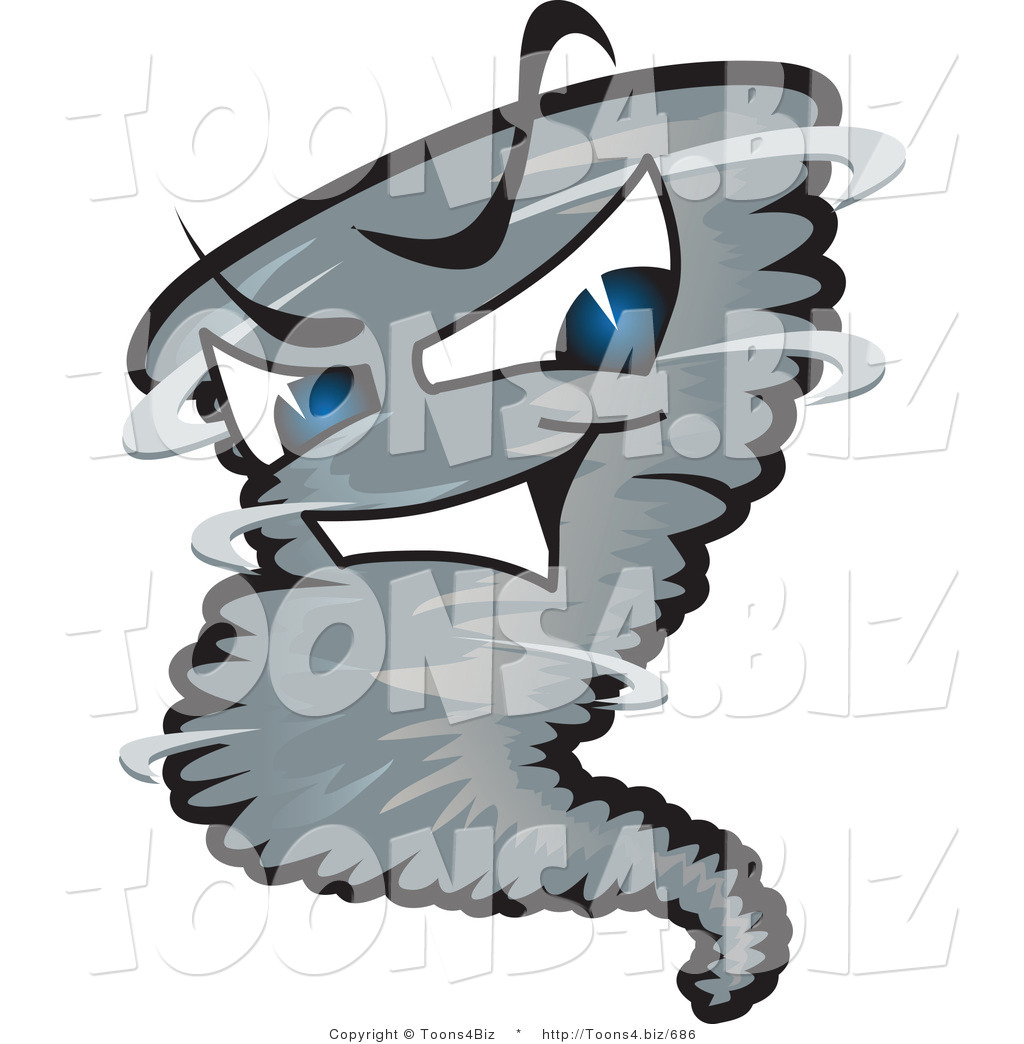 1024x1044 Vector Illustration Of A Powerful Cartoon Tornado Mascot By