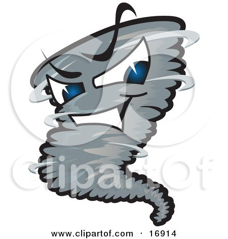 450x470 Clipart Picture Of An Evil Blue Eyed Dark Tornado Mascot Cartoon