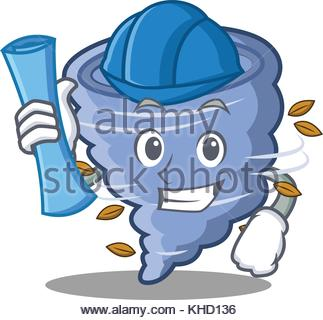 323x320 Storm Tornado Mascot Vector Cartoon Image Stock Vector Art