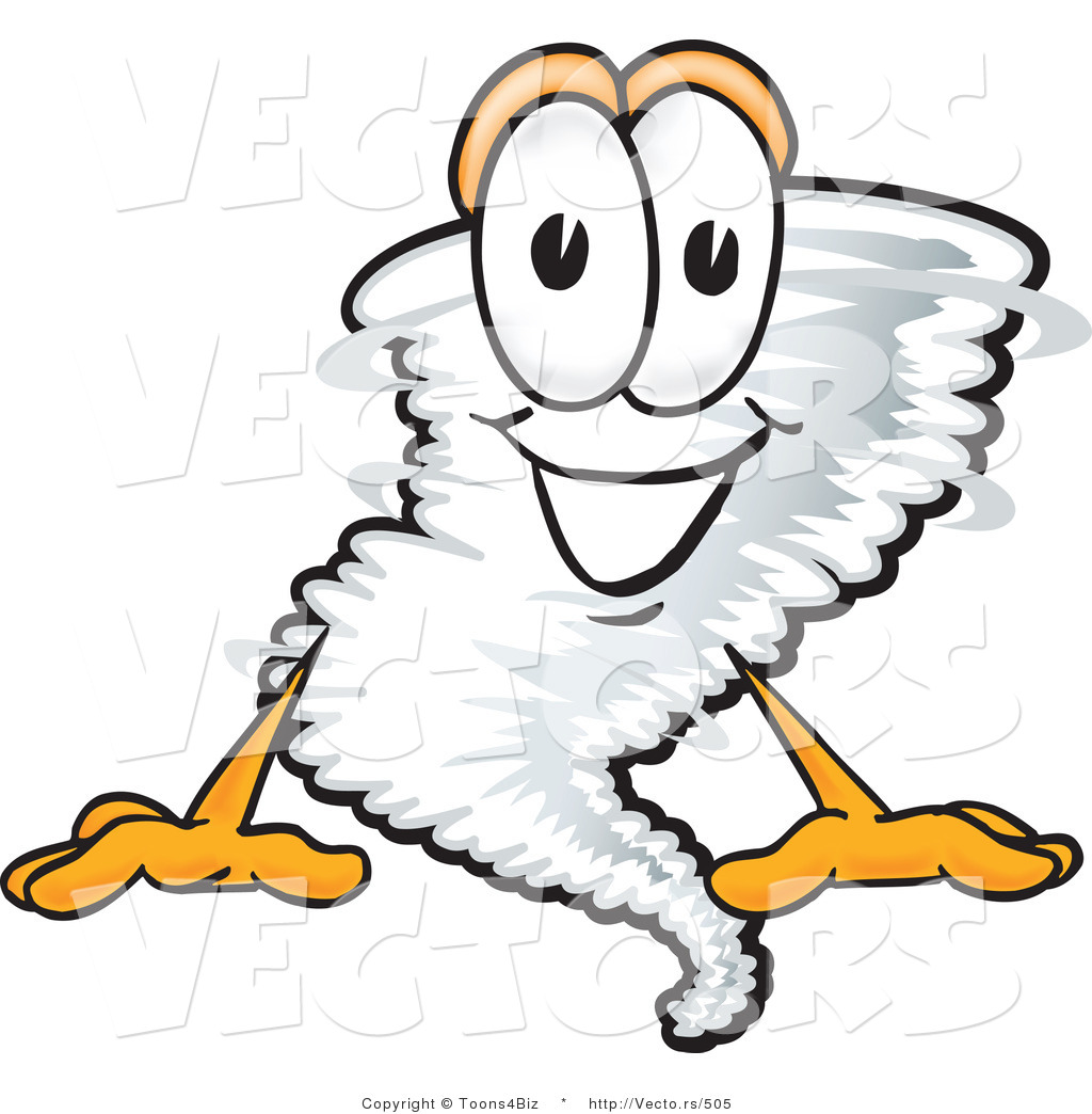 1024x1044 Vector Of A Cartoon Tornado Mascot Sitting With A Smile By