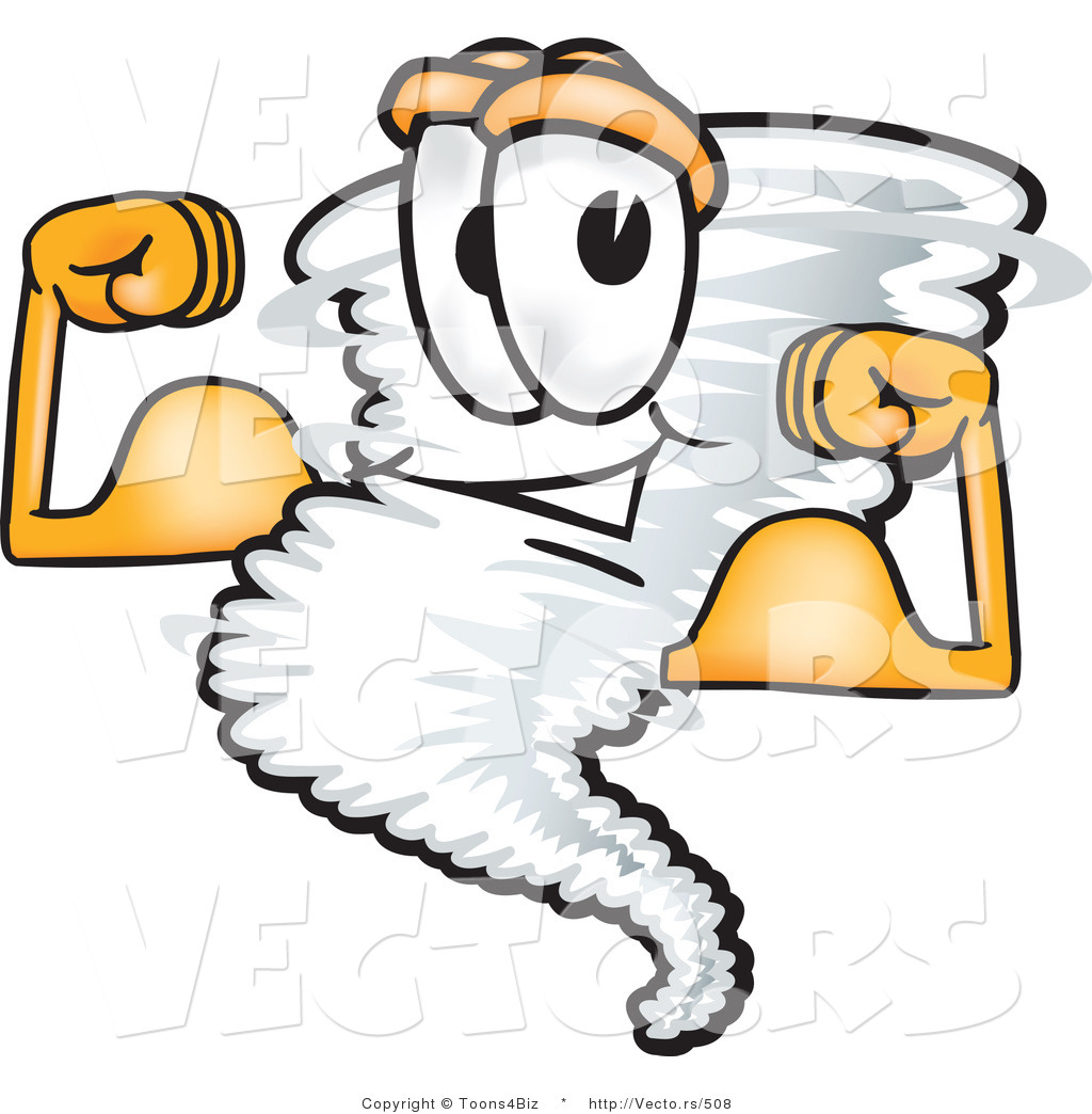 1024x1044 Vector Of A Muscular Cartoon Tornado Mascot Flexing Strong Muscles
