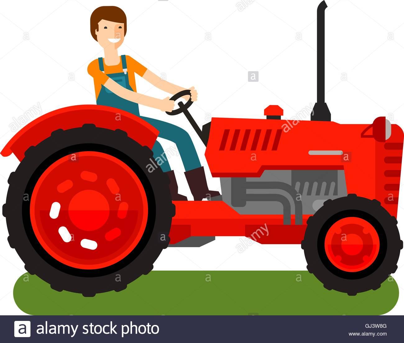 1300x1103 Retro Farm Tractor Icon. Cartoon Vector Illustration Stock Vector
