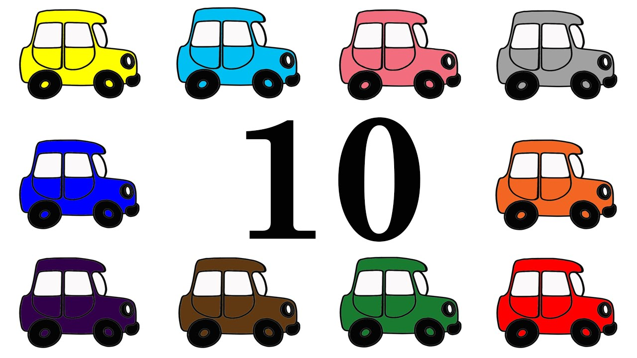 1280x720 Cars For Kids. Learning Numbers From 1 To 10. Counting Up To 10