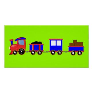 324x324 Cartoon Train Posters Zazzle