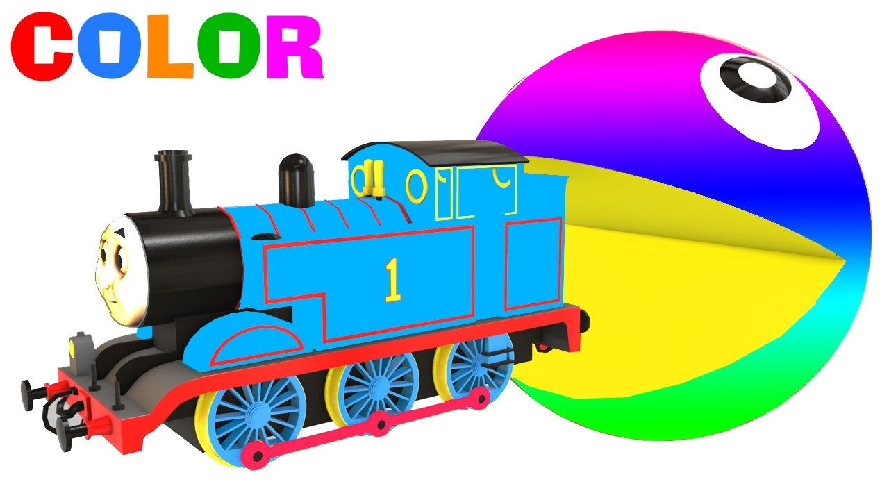 1280x720 Color Fun Train Amp Cars Cartoon 3d And Colors For Kids And Children