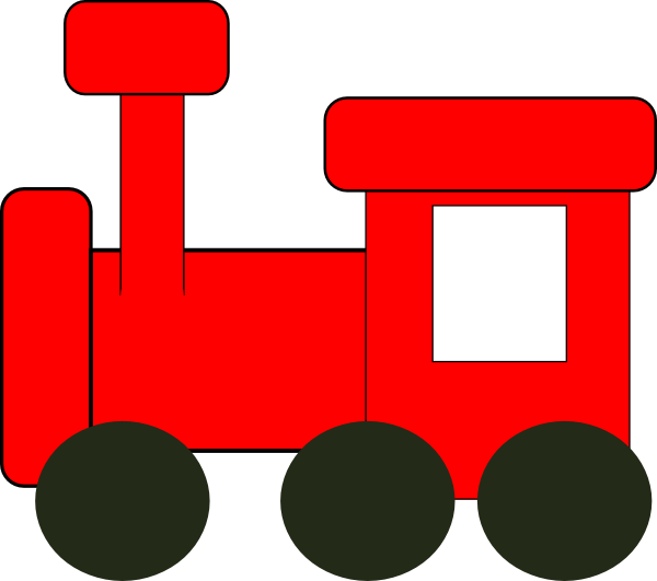 600x531 Red Train Clip Art