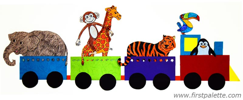 800x330 Animal Train Craft Kids' Crafts
