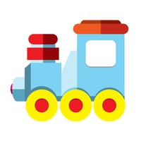 200x200 Cartoon Baby Babies Infant Infants Toddler Toddlers Train Trains