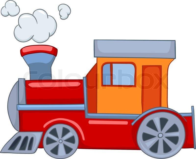 800x648 Cartoon Illustration Train Isolated On White Background Stock