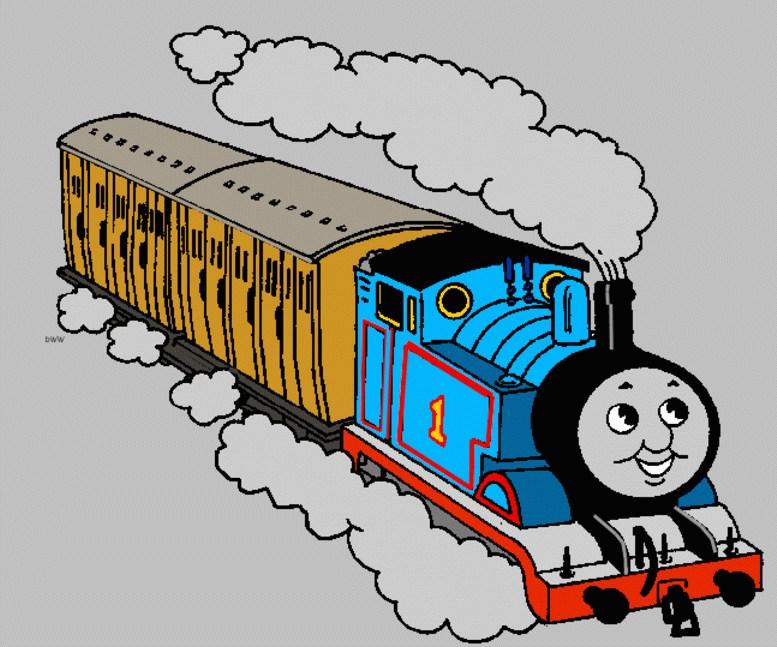 777x647 Cartoon Of Train