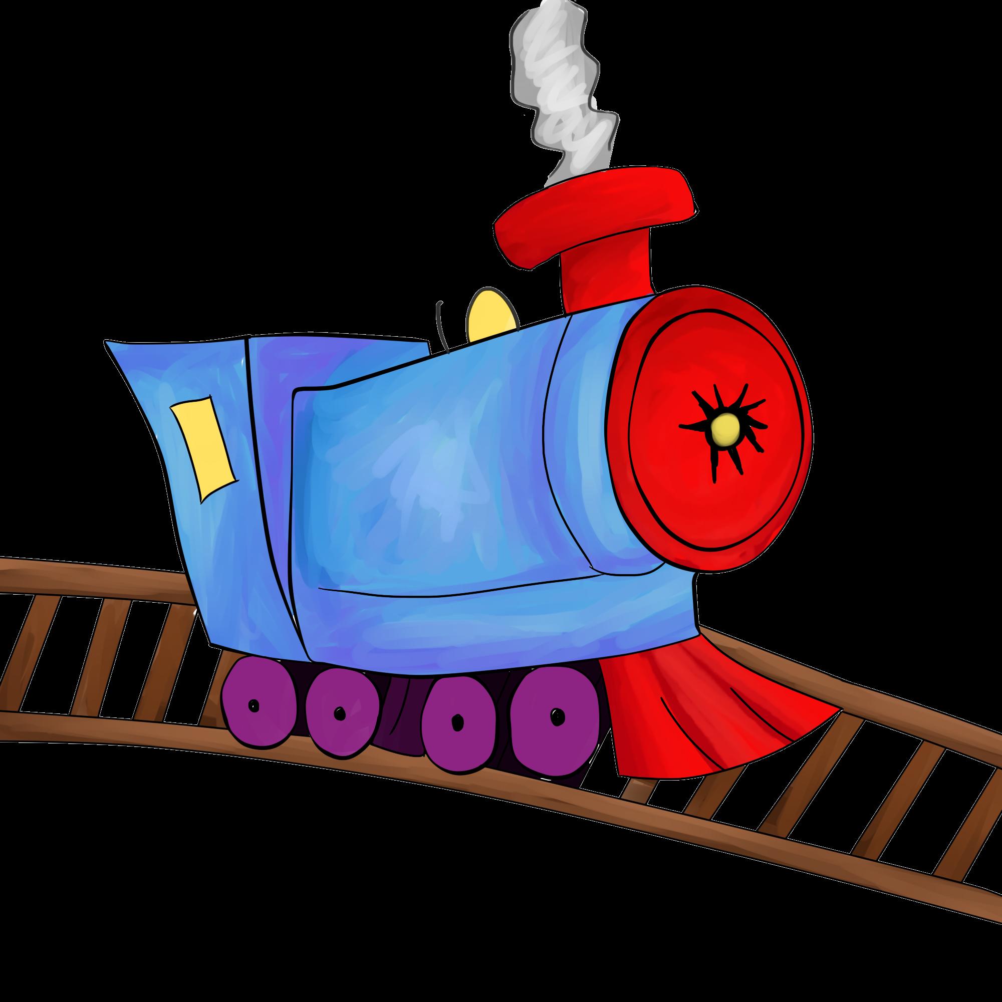 2000x2000 Cartoon Train Conductor