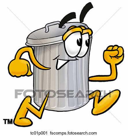 443x470 Clipart Of Trash Can Running Tc01p001