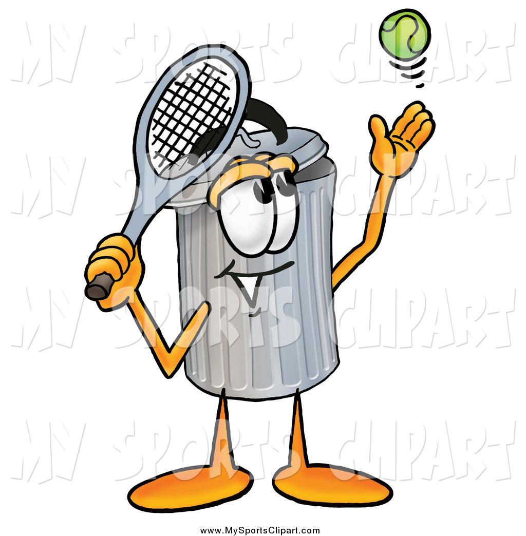 1024x1044 Sports Clip Art Of A Trash Can Mascot Cartoon Character Preparing